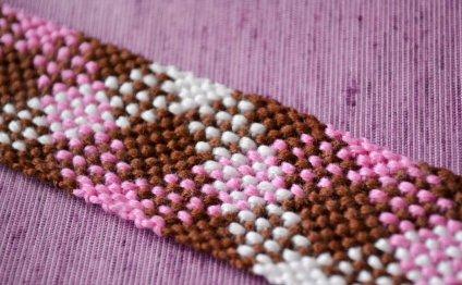 Фенечка косого плетения из