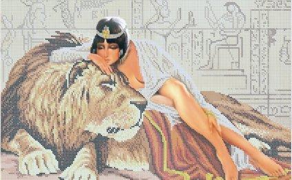 Клеопатра и лев - схема с