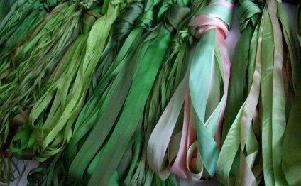 Шелковые ленты для вышивания